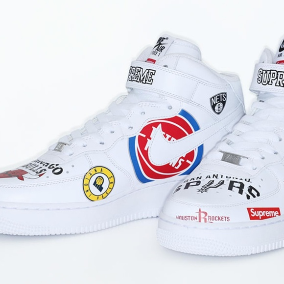 new style 5a031 1a904 SupremeNBANike Air Force 1 Mid White Size 13